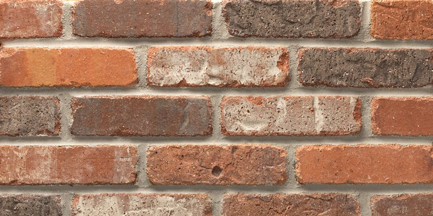 Acme Brick - Castleford Rumbled Texture, Modular thinBRIK