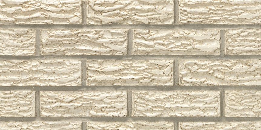 Acme Brick - Glacier White Bark Texture, Modular thinBRIK