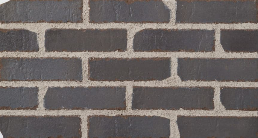 Feldhaus Thin Brick - 1 Tumbled Anthracite Traditional 717