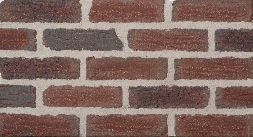 Feldhaus Thin Brick - 1 Tumbled Deep Wine Handform 664