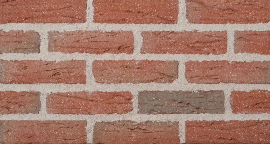 Feldhaus Thin Brick - 1 Tumbled Red Flashed Creased Sanded 436
