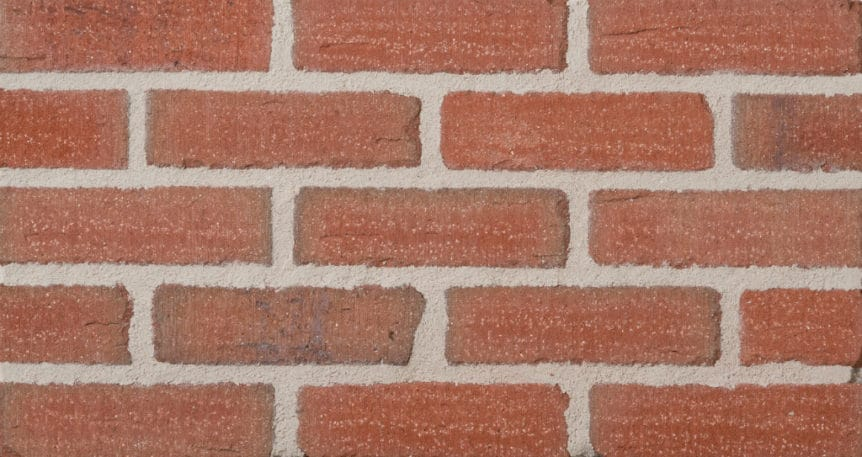 Feldhaus Thin Brick - 1 Tumbled Red Flashed Rustic 387