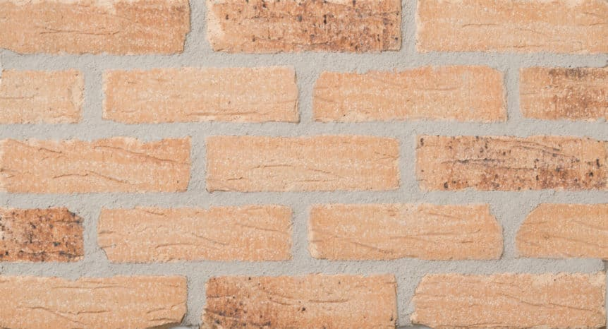 Feldhaus Thin Brick - 1 Tumbled Sunrise Coal Handform 695