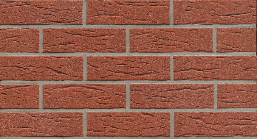 Feldhaus Thin Brick - 435 Red Creased Sanded