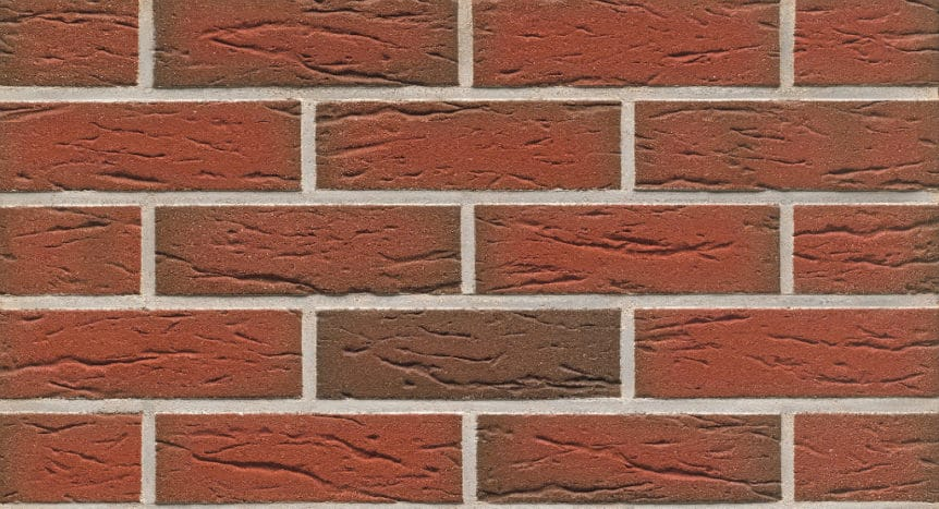 Feldhaus Thin Brick - 436 Red Flashed Creased Sanded