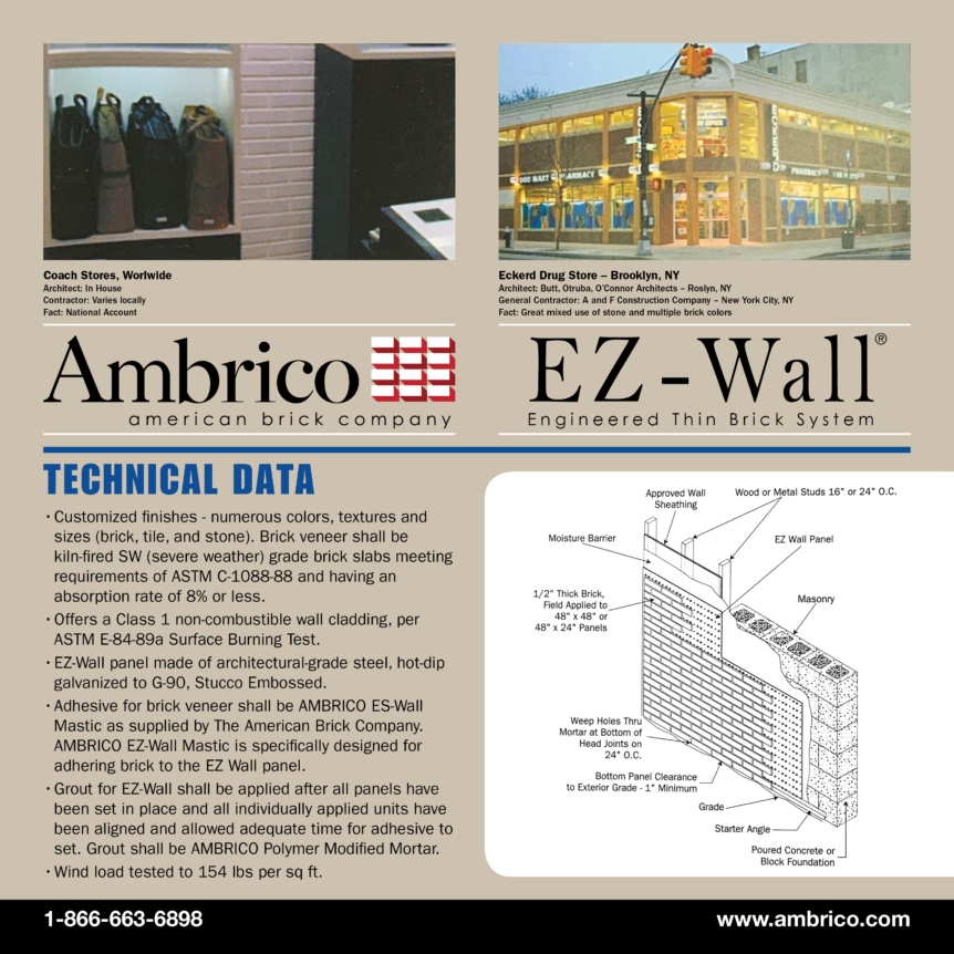 Installation of EZ Wall® Engineered Thin Brick Panel System
