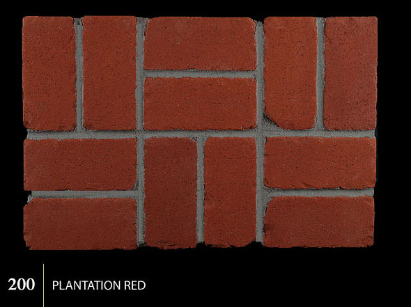 Marion Ceramics - Tumbled BrickTile - 200 | Plantation Red