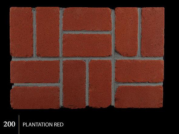 Marion Ceramics - Tumbled BrickTile - 200 | Plantation Red