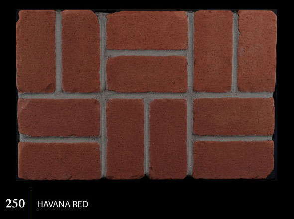 Marion Ceramics - Tumbled BrickTile - 250 | Havana Red