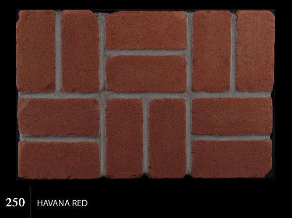 Marion Ceramics - Tumbled BrickTile - 250 | Havana Red