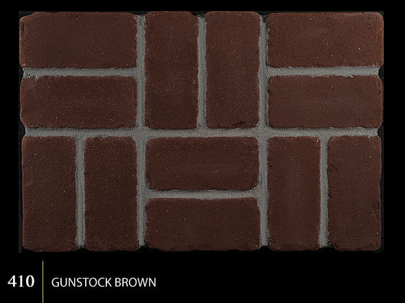 Marion Ceramics - Tumbled BrickTile - 410 | Gunstock Brown
