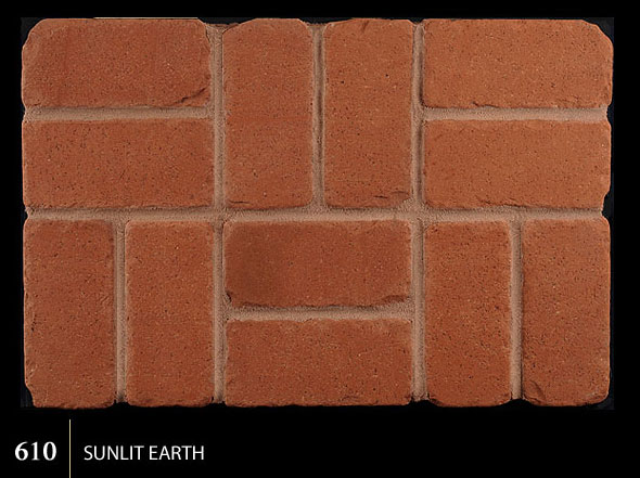 Marion Ceramics - Tumbled BrickTile - 610 | Sunlit Earth