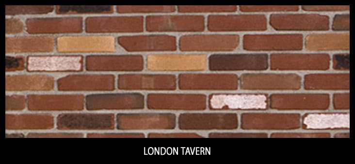 Marion Ceramics - Tumbled Vee Brick - London Tavern