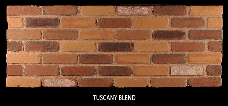 Marion Ceramics - Tumbled Vee Brick - Tuscany Blend