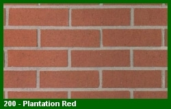 Marion Ceramics - Vee Brick - 200 - Plantation Red