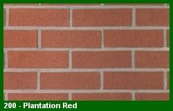 Marion Ceramics - Vee Brick - 200 - Plantation Red