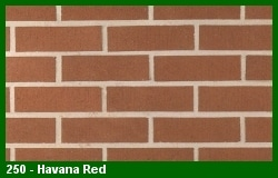 Marion Ceramics - Vee Brick - 250 - Havana Red