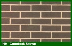 Marion Ceramics - Vee Brick - 410 - Gunstock Brown