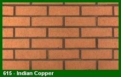 Marion Ceramics - Vee Brick - 615 - Indian Copper
